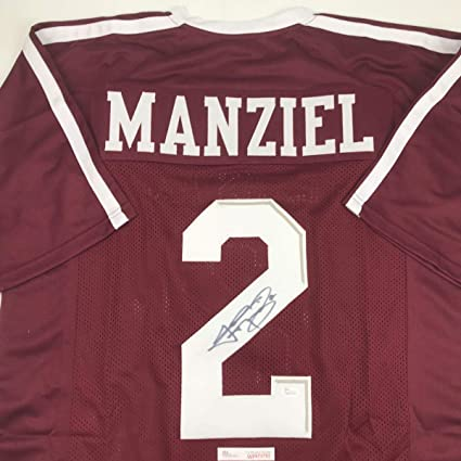 purchase cheap f3f79 0d465 Autographed/Signed Johnny Manziel Texas A&M Maroon College Football Jersey  JSA COA
