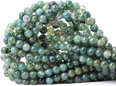 AAA Quality 4,6,8,10 mm size available,Round smooth jewelry jewelry making Natural Moss Agate Round Beads,Round smooth