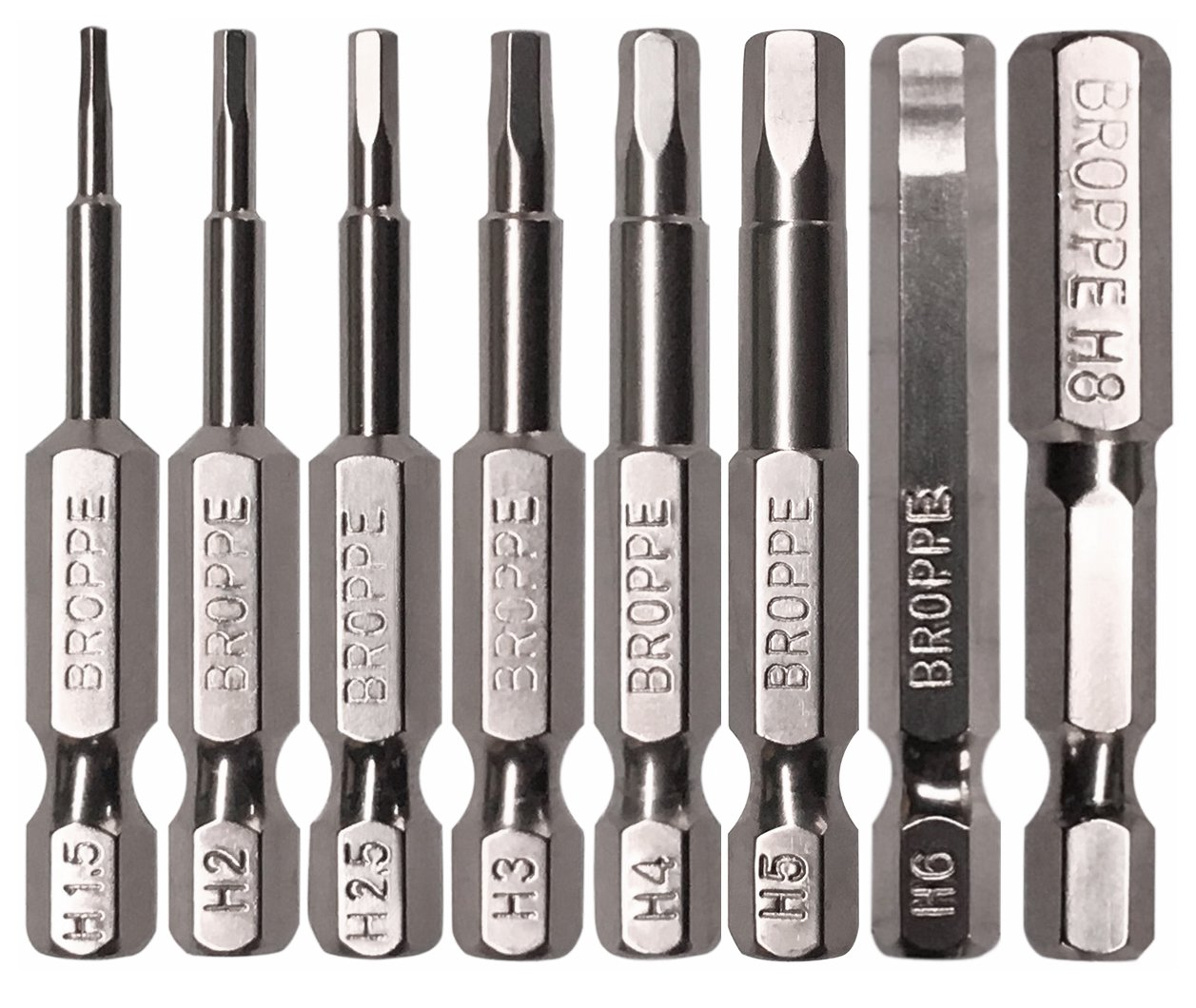 Hex Drill Screwdriver Bit 8 Pcs Shank Magnetic Hexagon Screwdriving bits set 1/4'' Hex Shank, 2 Inch Length