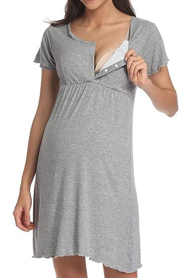 vendita calda genuina vari colori come acquistare Ritera Pigiama Premaman Cotone, Vestito Camicia da Notte ...