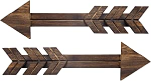 cocomong Wooden Arrow Wall Decor Farmhouse Wall Decor Decorative Rustic Wood Arrows Sign for Home Living Room Wall Hanging Set of 2