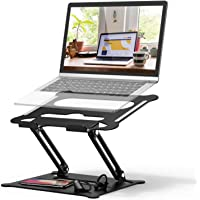 Adjustable Laptop Stand, FYSMY Ergonomic Portable Computer Stand with Heat-Vent to Elevate Laptop, 13 Lbs Heavy Duty…