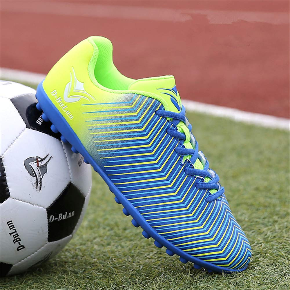 LEODI Boys Professional Soccer Cleats Outdoor Soccer TF Football Shoes