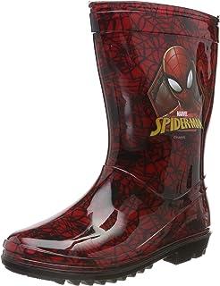 Spider-Man Childrens Wellington Boots Boys Waterproof Wellies Size 7-1