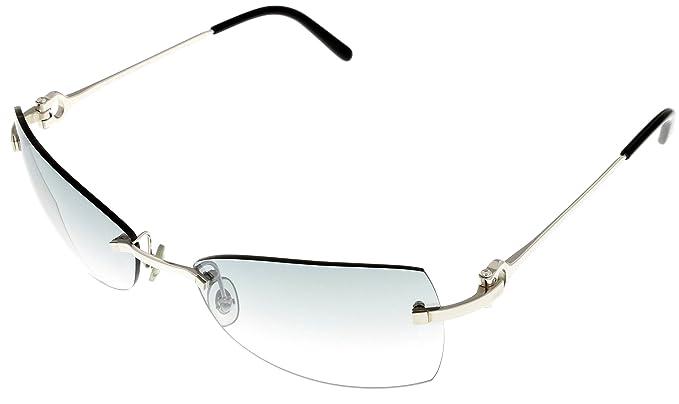 Amazon.com: Cartier Imbat Sunglasses Women T8200449 Rimless ...