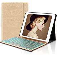 iPad 9.7 Italiano Tastiera Custodia, Dingrich iPad 9.7 2018/2017 iPad Pro 9.7 iPad Air Bluetooth Wireless Retroilluminata Tastiera