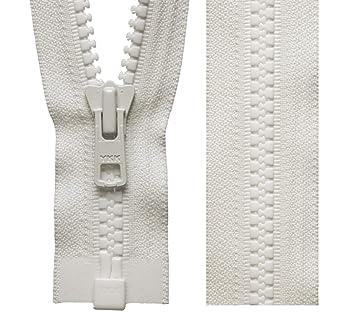 Marfil Vislon YKK cremallera extremo abierto cremalleras para abrigos resistentes (46 cm a 81 cm