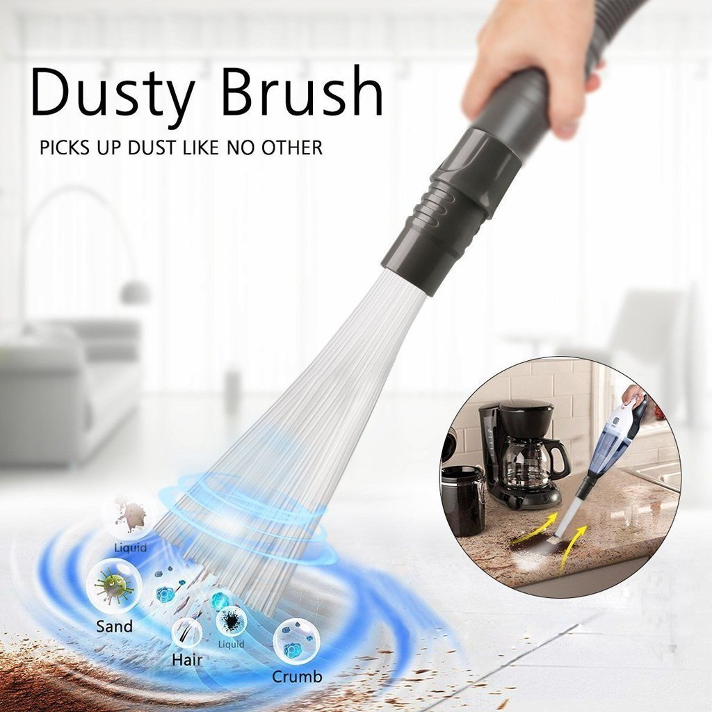 Dust Brush-Cleaner Dirt Remover Universal Vacuum Attachment for Air Vents/Keyboards/Drawers/Car/Tools/Crafts/Jewelry/Plants (Gray) Lovelyhome