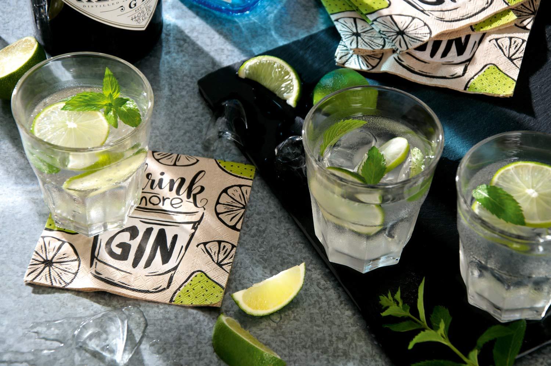 5 x 5 Boston International C009100 IHR Cocktail Beverage Paper Napkins