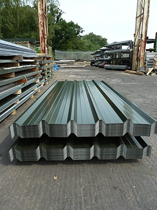 Box Profile Galvanised Steel Roofing Sheets With Polyester Coated Smooth Finish Rhino Steel Cladding Tel 01675 462 692 Amazon Co Uk Garden Outdoors