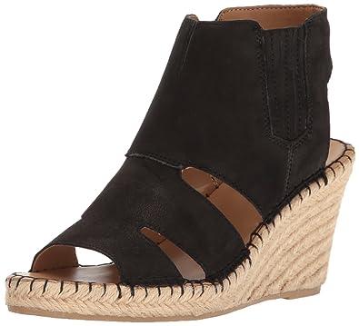 Franco Sarto Women's NOLA Espadrille Wedge Sandal, Black, ...
