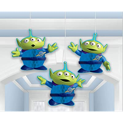 "Amscan""Toy Story 4"" Green and Blue Aliens Honeycomb Party Decorations, 3 Ct, 290129: Toys & Games"