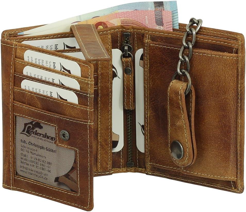 BRANCO Biker Porte-monnaie Cuir Portefeuille Avec Chaîne Portefeuille Chaînes bourse 34015