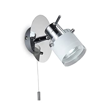 5W LED Lámpara de pared para baño con interruptor de cordón, IP44, Foco LED