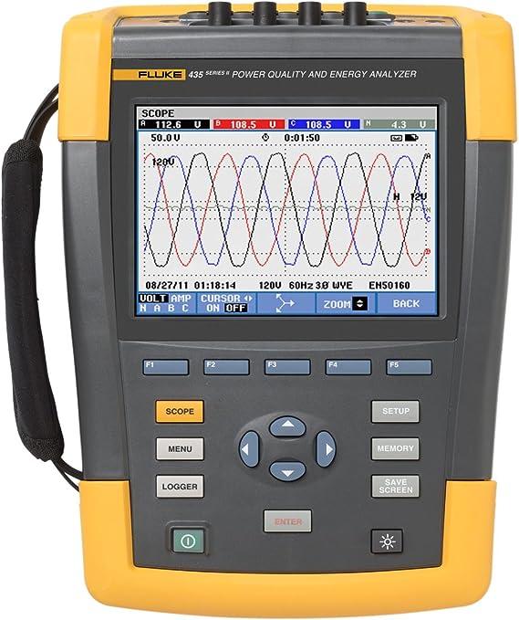 Fluke 435 Series Ii Three Phase Power Quality And Energy Analyzer Industrial Power Meters Amazon Com Home Improvement