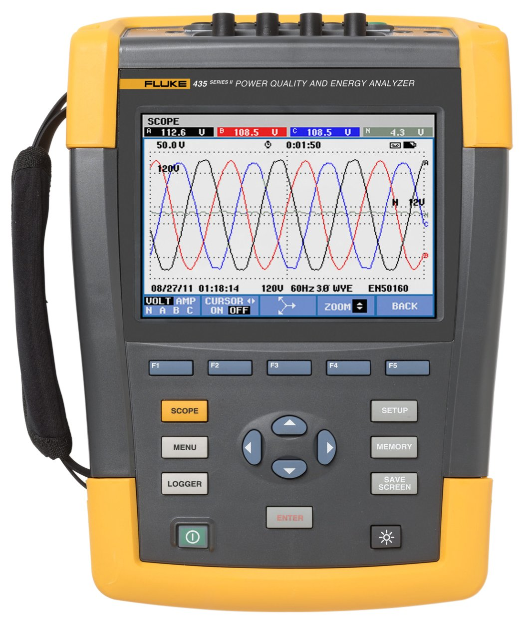 Fluke 435 Series II Three-Phase Power Quality and Energy Analyzer