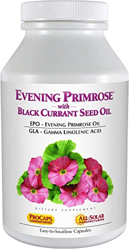 Andrew Lessman Evening Primrose with Black Currant Seed Oil 60 Softgels Soothes Physical Discomfort and Mood Swings Due to Menstrual Cycle, with Gamma-Linolenic, Omega-6 Fatty Acids, No Additives