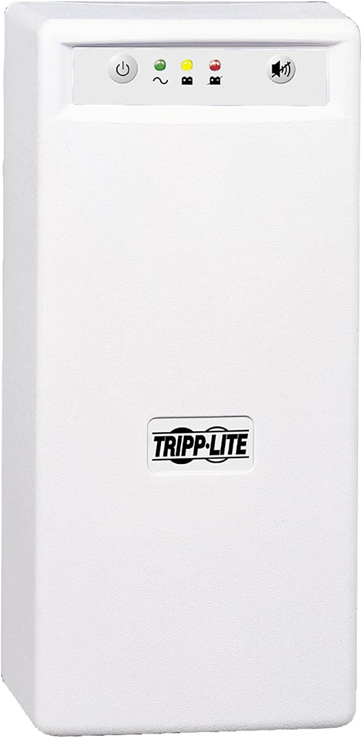 Tripp Lite INTERNETOFFICE700 700VA 425W UPS Desktop Battery Back Up Tower 120V USB RJ45 PC, 6 Outlets,Black