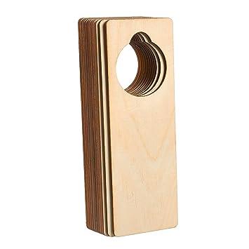Juvale Wood Door Knob Hangers 12 Pack Unfinished Wooden Door