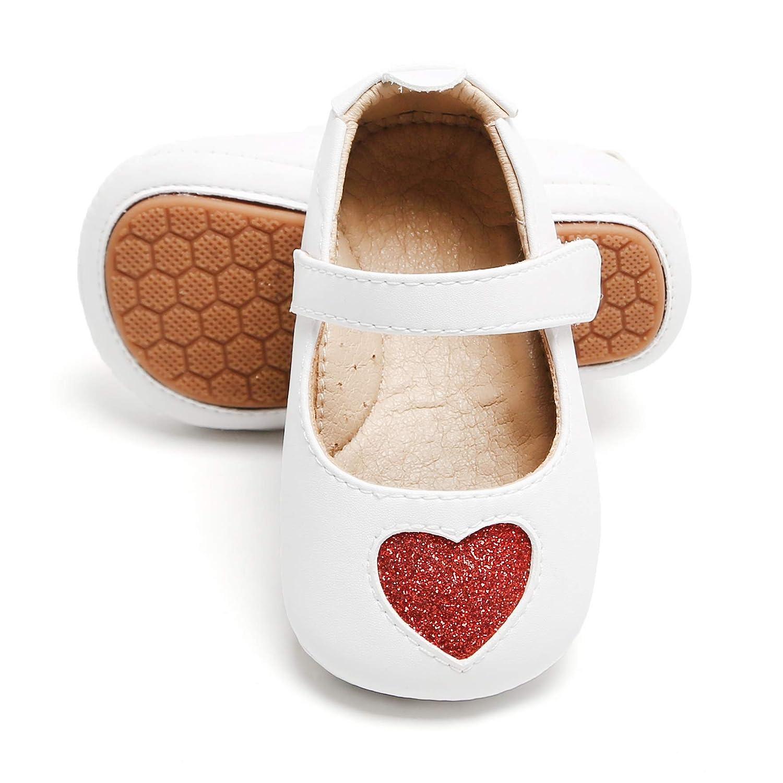 Amazon.com: Bear Mall Zapatos de bebé para niñas, suela de ...