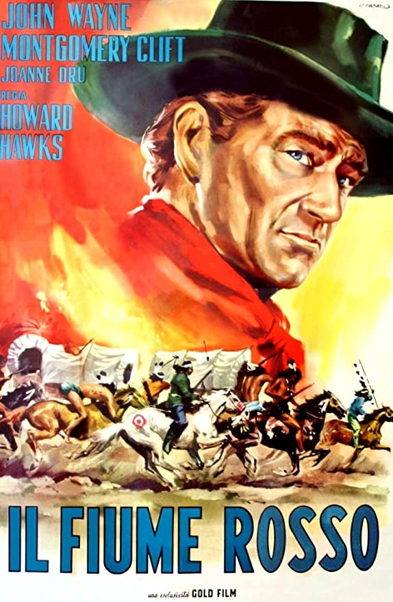 John Wayne Howard Hawks movie poster 24x36 inches Red River 1948