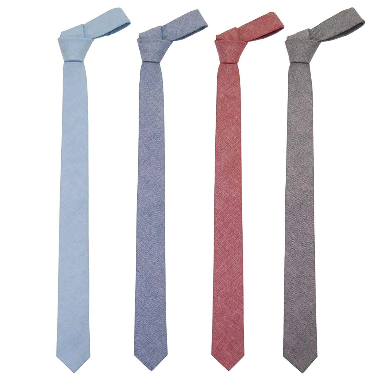 Corbata para hombre Jnjstella de algodón, color sólido, delgada ...