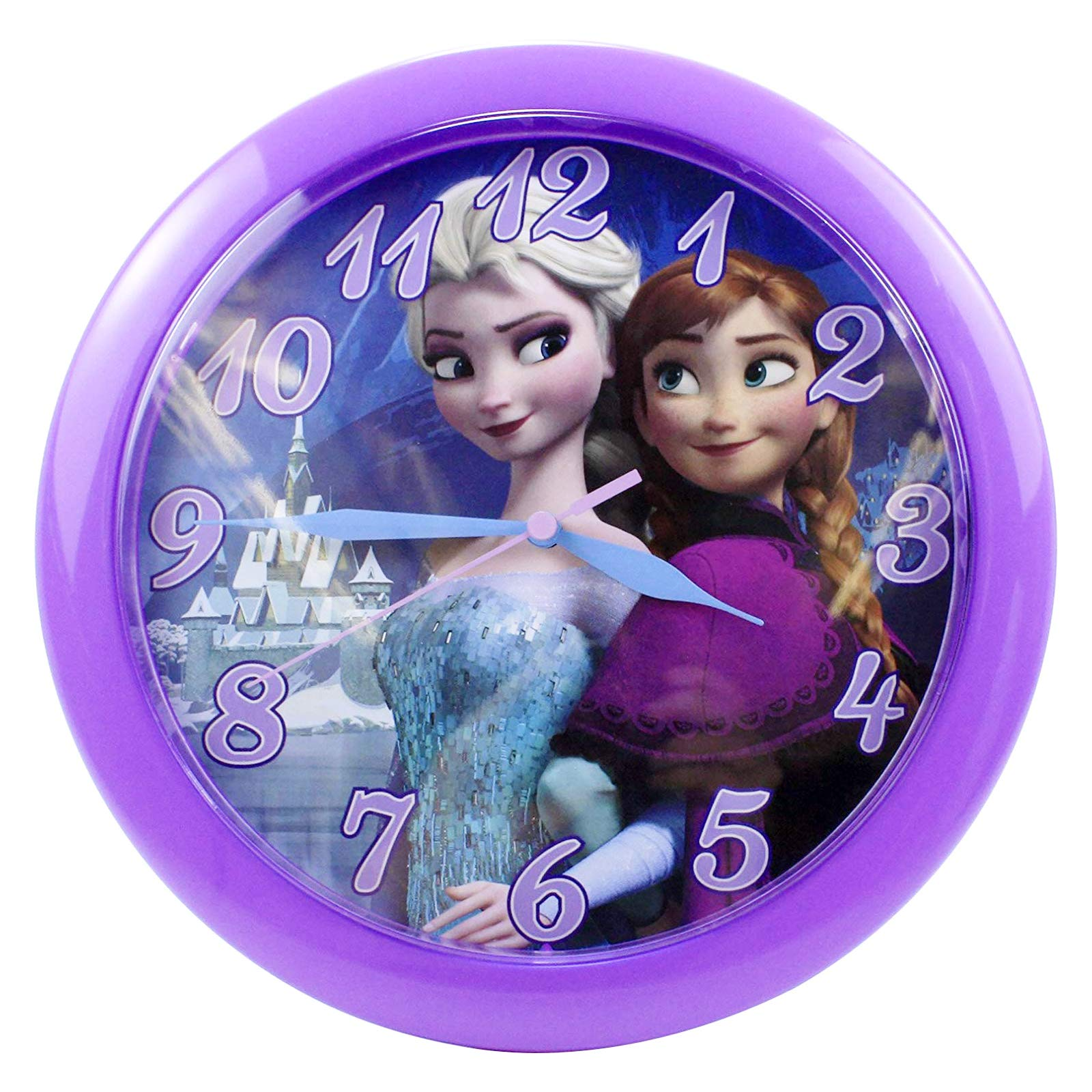 "Disney Frozen Anna & Elsa Wall Clock - 10"""