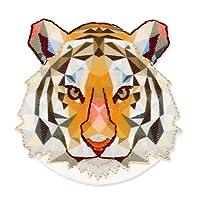 Ecusson Thermocollant Origami 50x51 mm Tête de tigre x1