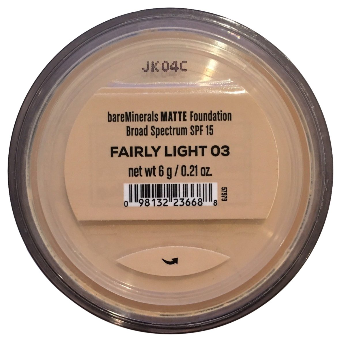 Bare Escentuals Bare Minerals Foundation Matte SPF 15 Fairly Light, Large, 6 g