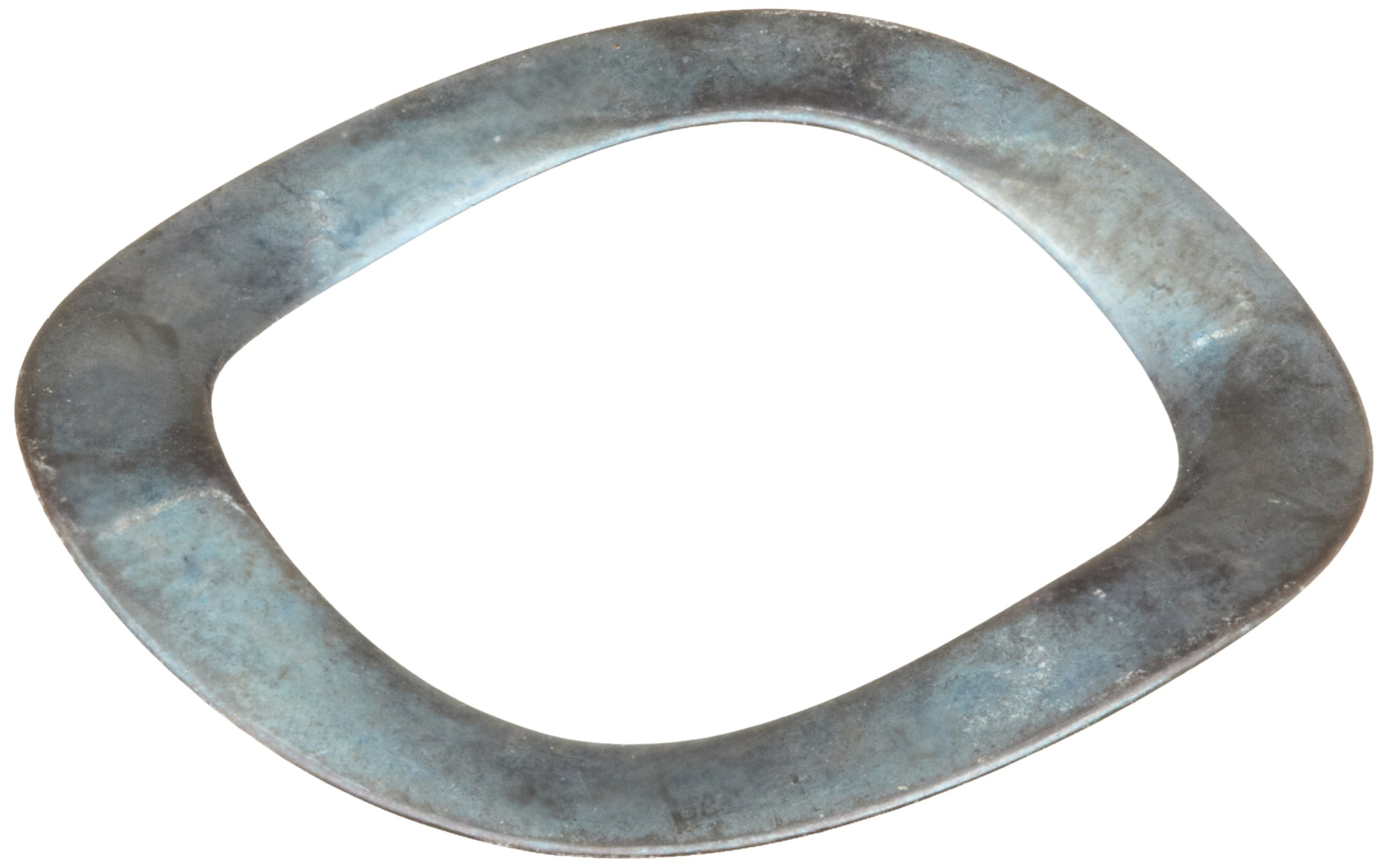 Compression Type Wave Washer, Carbon Steel, 3 Waves, Inch, 0.52'' ID, 0.74'' OD, 0.008'' Thick, 0.748'' Bearing OD, 364lbs/in Spring Rate, 55.1lbs Load, (Pack of 10)