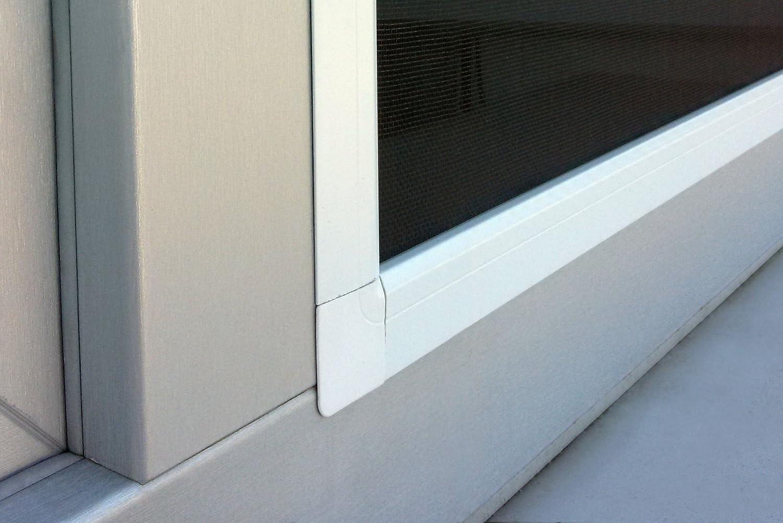 Montaje sin perforaci/ón JAROLIFT Profi Line Mosquitera con marco de aluminio para ventana 110cm x 150cm marr/ón