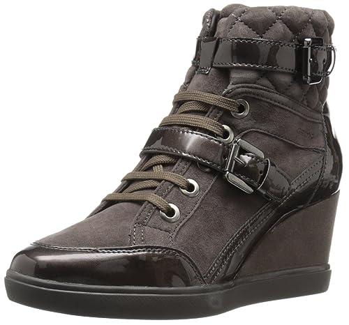 sports shoes a09e5 03b6a Geox Sneaker in Pelle e camoscio Colore Noce Articolo D6467C 021HI C6004  Nuova Collezione Made in Italy Autunno Inverno 2016 2017