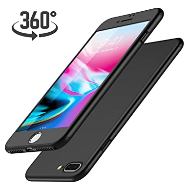 Funda iPhone SE + Protector de Pantalla de Vidrio Templado, Luckydeer Carcasa iPhone 5 360 Grados Ultra-Delgado Ultraligero Anti-Arañazos Carcasa ...
