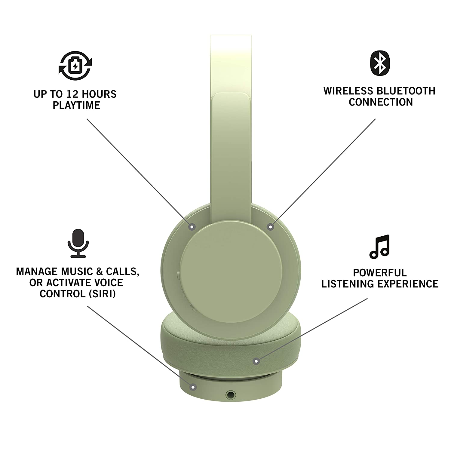 Amazon.com: Urbanista Detroit Bluetooth On Ear Headphones [ Fashion Conscious ], Up to 12 Hours Play Time, Call-Handling with Microphone - Spring Green: ...