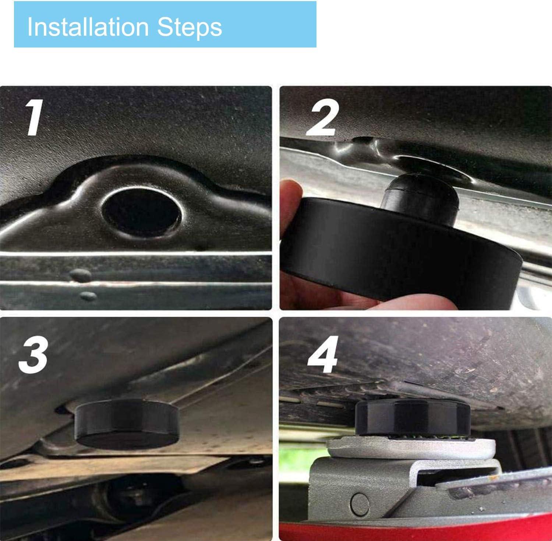 sch/ützt Fahrgestell 4 St/ück sicheres Anheben des Fahrzeugs Hebepunkt-Pad f/ür Wagenheber kompatibel mit Tesla Modell 3 Ersatzteil