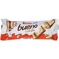 Ferrero Kinder Bueno Farcito al Latte e Nocciole Ricoperto di Cioccolato Bianco - Confezione da 3 x 39 gr