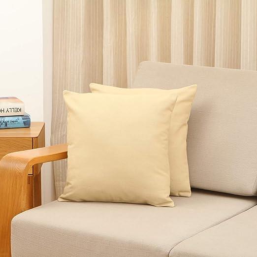 Vioaplem - 2 Fundas de cojín de algodón y Lino, para sofá ...
