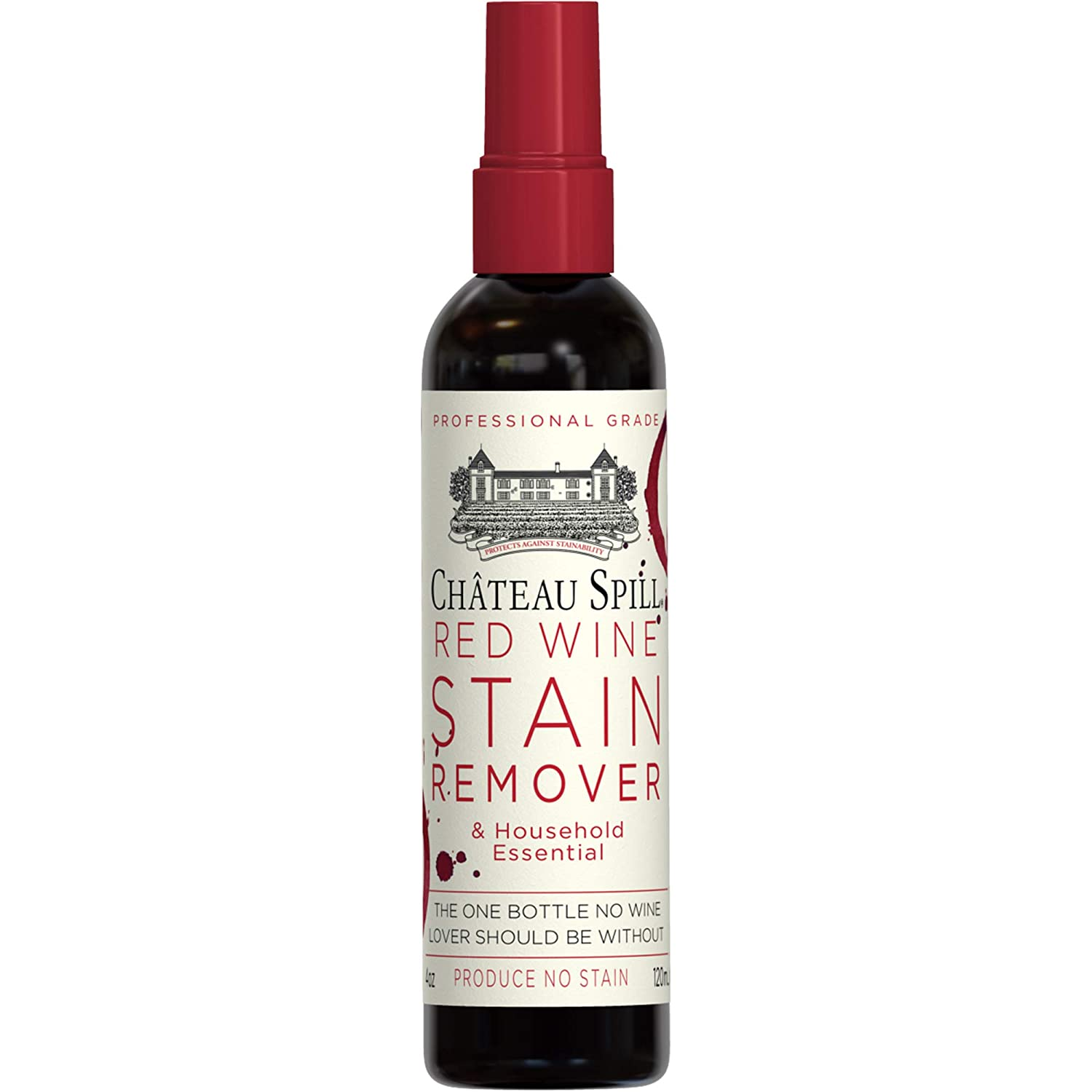 Incredible Chateau Spill Red Wine Remover 4 Oz 120 Ml Spray Bottle Wine Stain Remover For Clothes Fabric Stain Remover Carpet Stain Remover Gets The Inzonedesignstudio Interior Chair Design Inzonedesignstudiocom