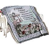 True Friend Garden Tapestry Throw