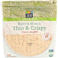 365 Everyday Value, Organic Rustic White Thin & Crispy Pizza Crusts, 2 ct