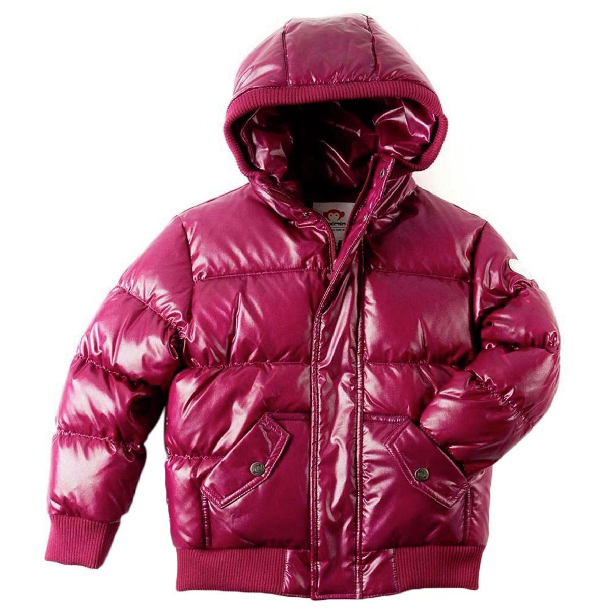 Appaman Girls' Puffy Coat, Deep Fuchsia Sparkle, 2T