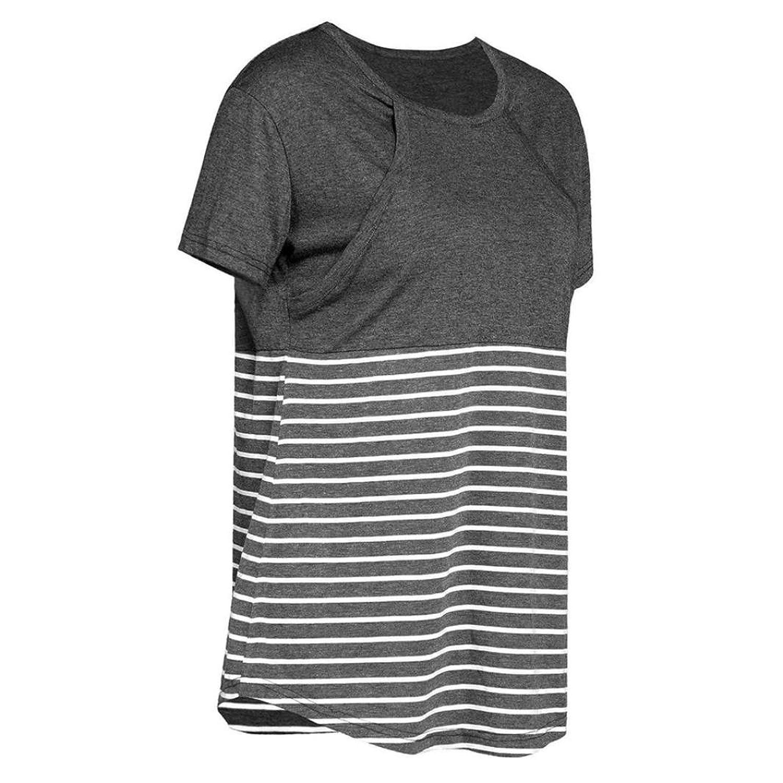 New Nursing Breastfeeding Cotton T-Shirt Long sleeves tops UK 8-14