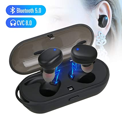a39dceb3347 Image Unavailable. Image not available for. Color: EEEKit Wireless  Headphones, Bluetooth 5.0 TWS Stereo Sound True Wireless Earbuds Mini ...