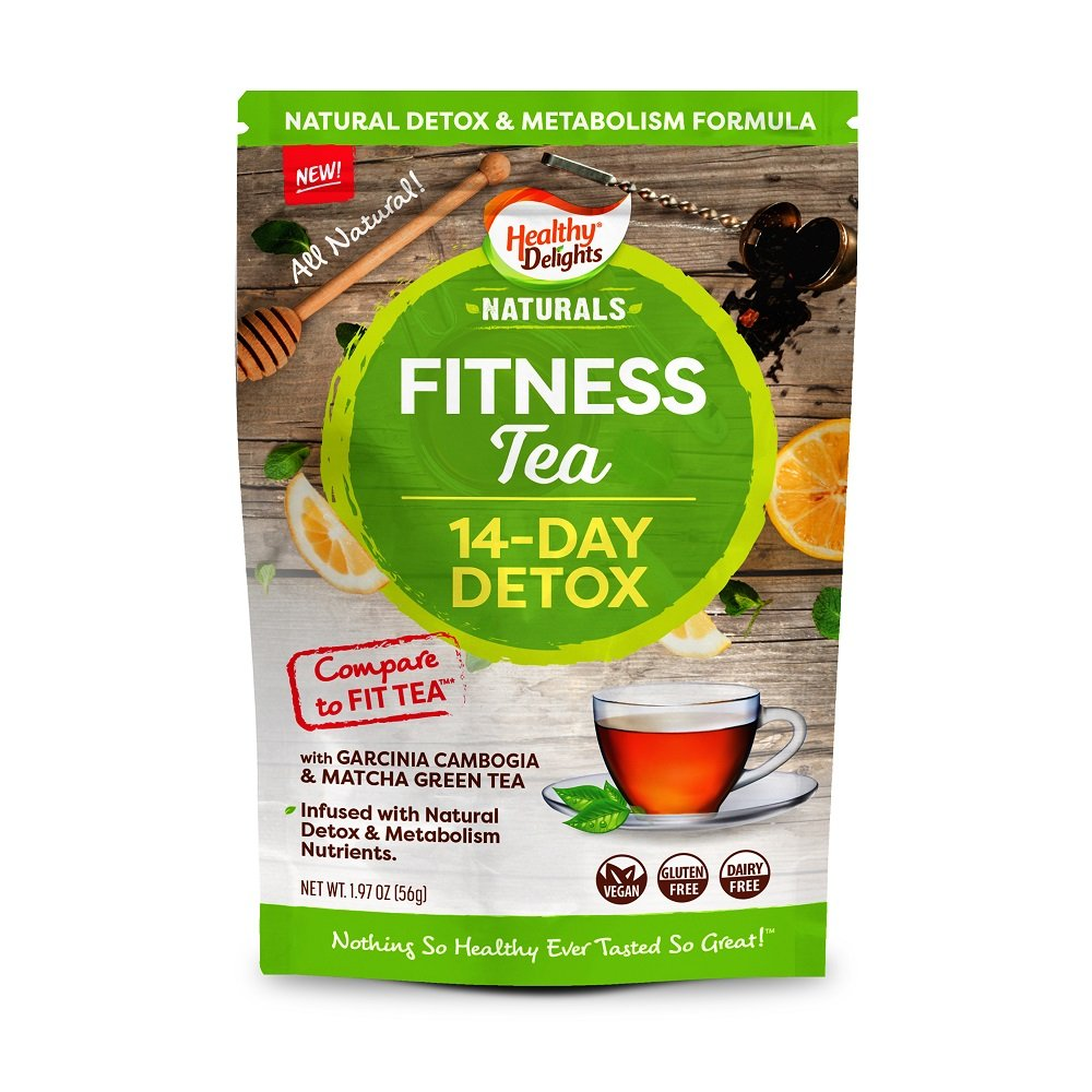 Healthy Delights Naturals, 14 Day Detox, Herbal Weight Loss Fitness Tea