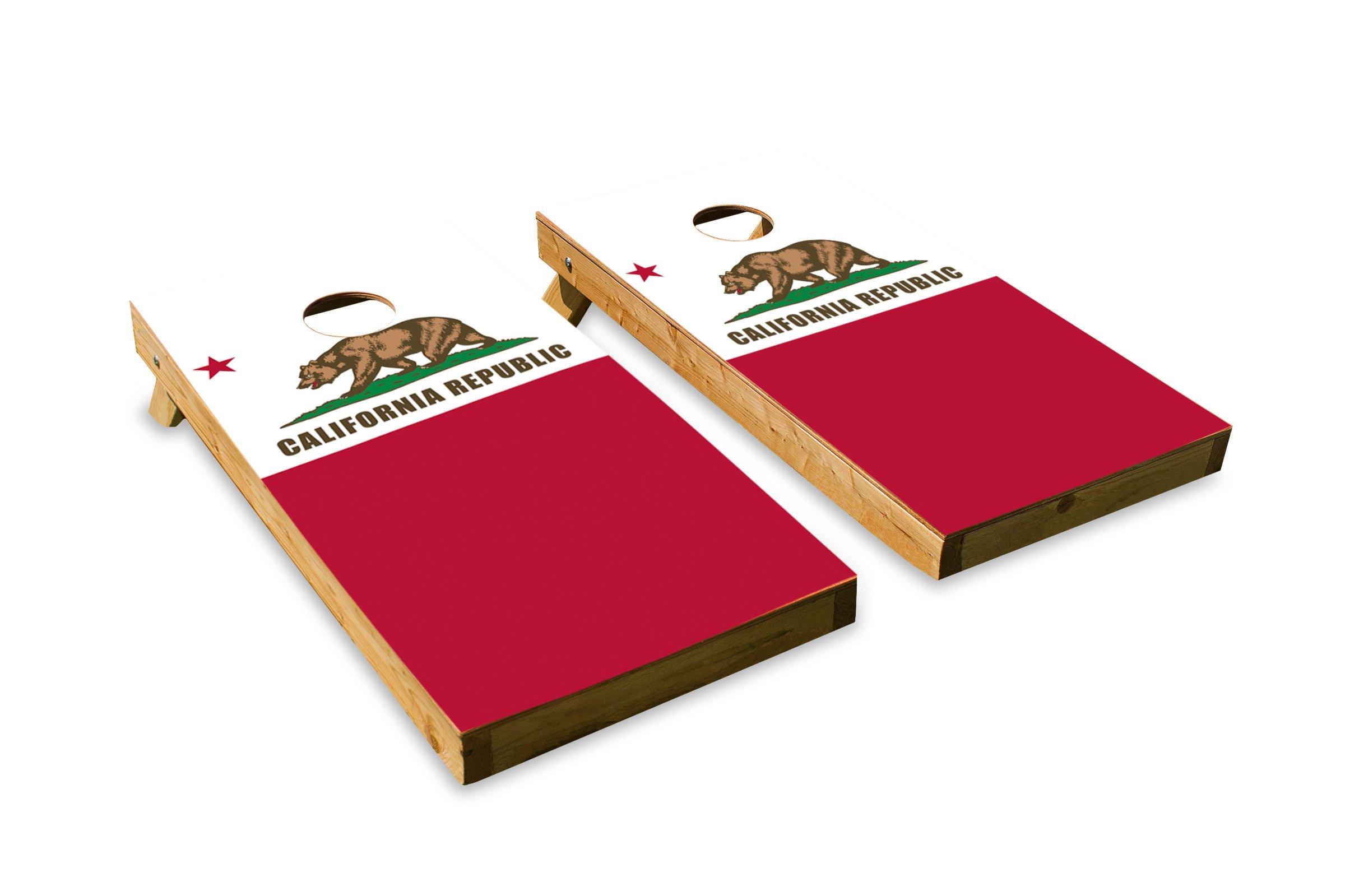 California State Flag - Cornhole Crew - ACA Regulation Size Cornhole Board Set by The Cornhole Crew