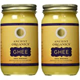 Ancient Organics, Organic Ghee from Grass-fed Cows, 16oz (Pack of 2)