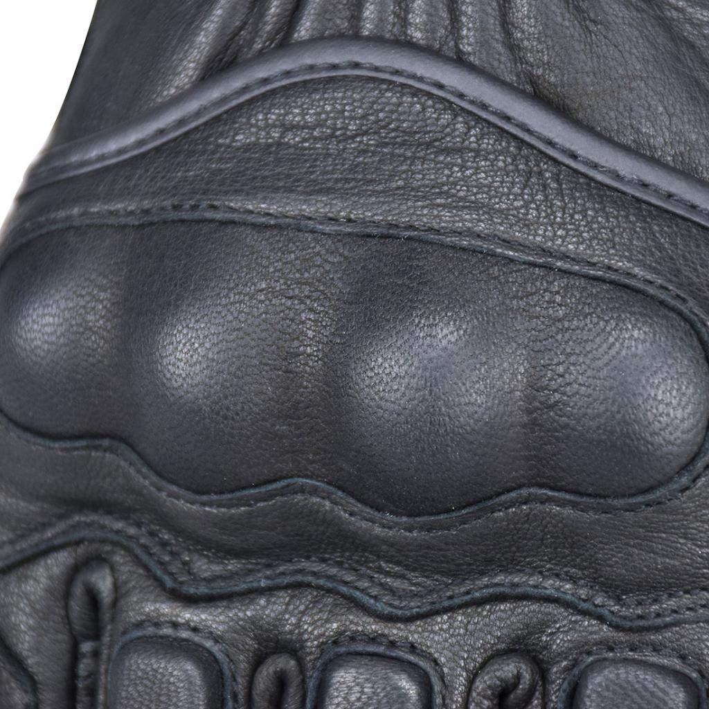 perfk Gants de Moto en Cuir PU Anti Pluie Ecran Tactile pour Homme Femme