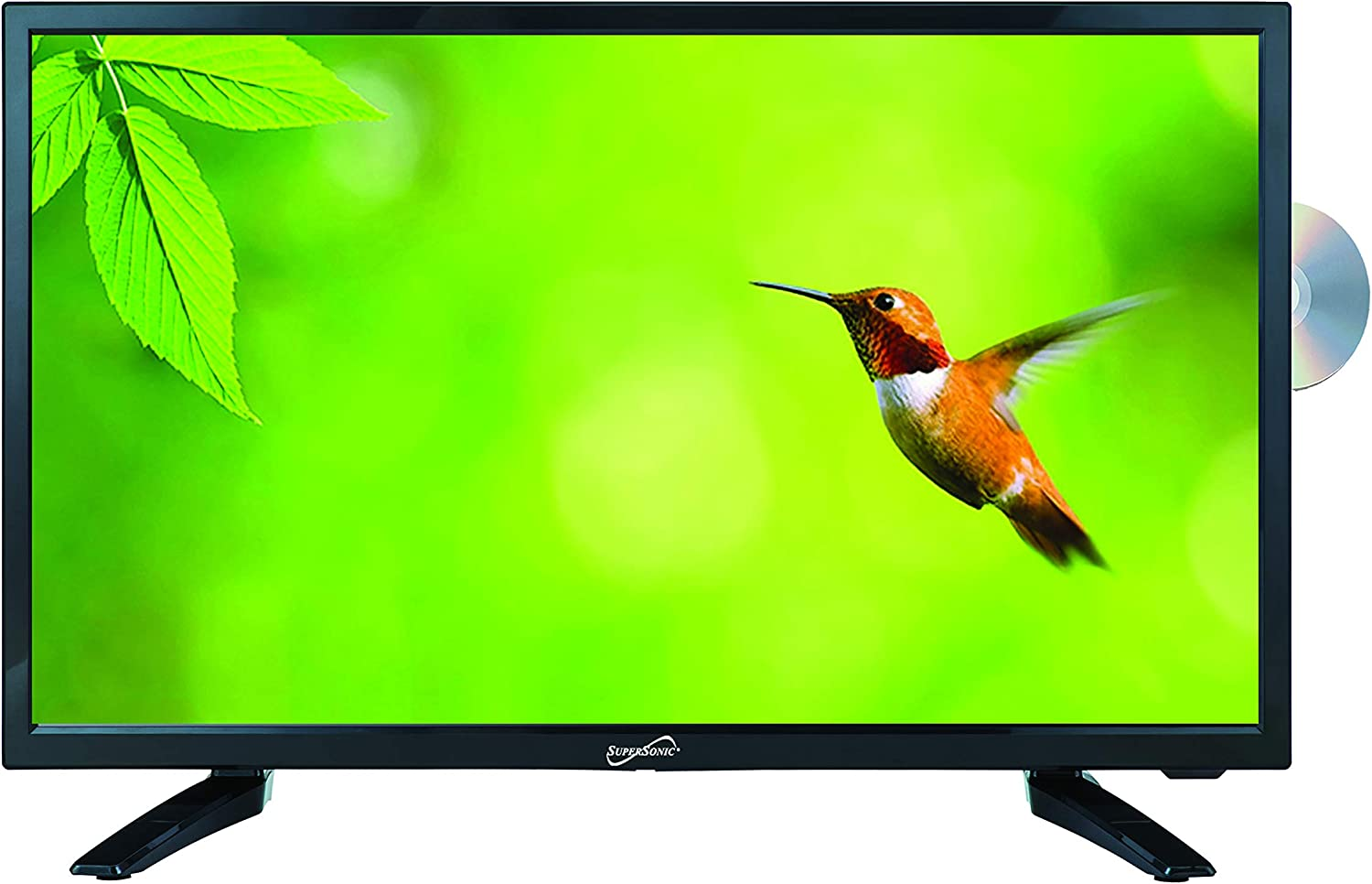 SuperSonic SC-1912 LED Widescreen HDTV Built-in DVD Player with HDMI, USB, SD & AC/DC Input