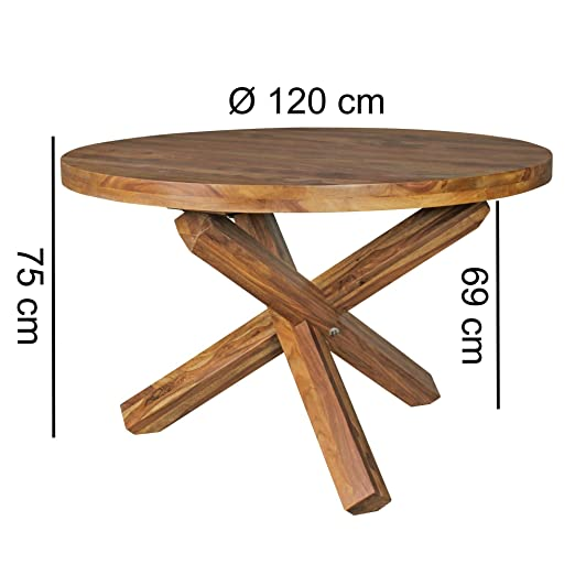 KS-Furniture BOHA - Mesa de Comedor Redonda (120 cm de diámetro x ...
