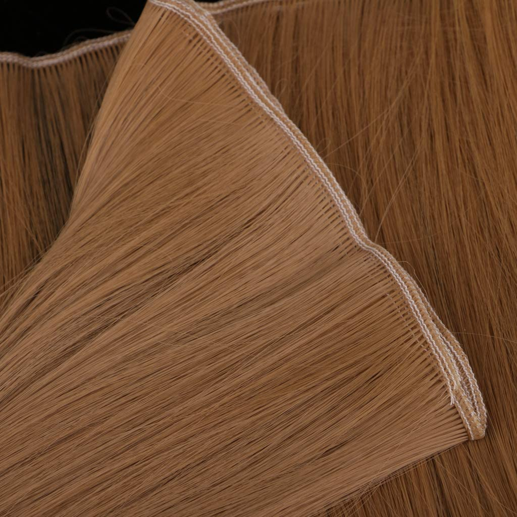 Gerades Haarteil F/ür Puppen Per/ücken des Handwerks DIY Blau Die Zus/ät Massenper/ücken CUTICATE Hitzebest/ändiger Gro/ßer Gelockter Synthetischer Haar Einschlagfaden